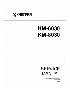 KYOCERA Copier KM-6030 8030 Service Manual