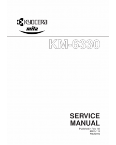 KYOCERA Copier KM-6330 Service Manual
