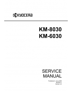 KYOCERA Copier KM-8030 6030 Service Manual