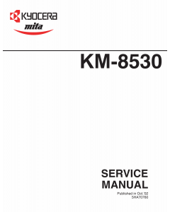 KYOCERA Copier KM-8530 Parts and Service Manual