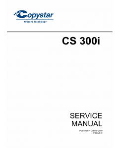 KYOCERA LaserPrinter Copystar-CS-300i Parts and Service Manual
