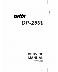 KYOCERA LaserPrinter DP-2800 Parts and Service Manual