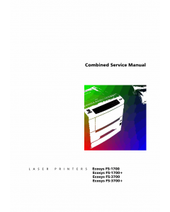KYOCERA LaserPrinter ECOSYS-FS-1700 1700+ 3700 3700+ Parts and Service Manual