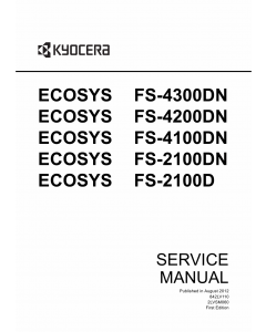 KYOCERA LaserPrinter ECOSYS-FS-4300DN 4200DN 4100DN 2100DN 2100D Service Manual