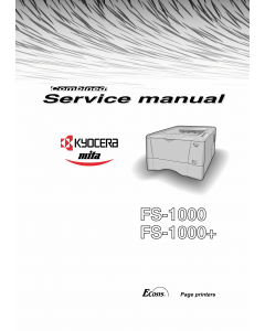 KYOCERA LaserPrinter FS-1000 1000+ Service Manual