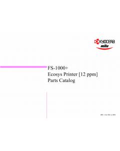 KYOCERA LaserPrinter FS-1000+ Parts Manual