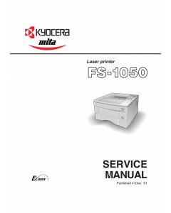 KYOCERA LaserPrinter FS-1050 Parts and Service Manual
