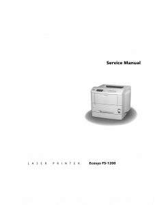 KYOCERA LaserPrinter FS-1200 Parts and Service Manual