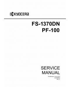 KYOCERA LaserPrinter FS-1370DN PF-100 Parts and Service Manual