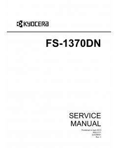 KYOCERA LaserPrinter FS-1370DN Service Manual