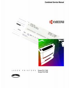 KYOCERA LaserPrinter FS-1714M 3718M Parts and Service Manual