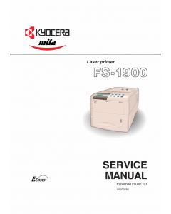 KYOCERA LaserPrinter FS-1900 Parts and Service Manual