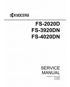KYOCERA LaserPrinter FS-2020D 3920DN 4020DN Parts and Service Manual