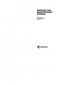 KYOCERA LaserPrinter FS-3500 3500C Parts and Service Manual