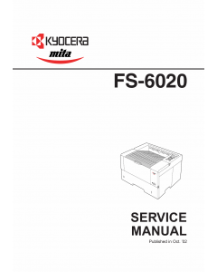 KYOCERA LaserPrinter FS-6020 Parts and Service Manual