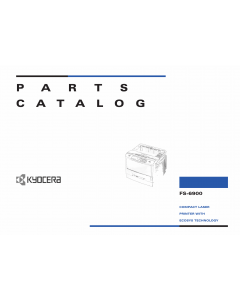 KYOCERA LaserPrinter FS-6900 Parts Manual