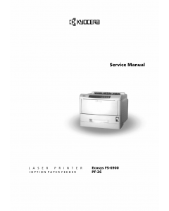 KYOCERA LaserPrinter FS-6900 Service Manual