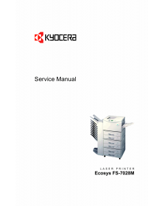 KYOCERA LaserPrinter FS-7028M Parts and Service Manual