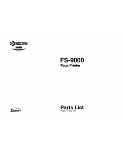 KYOCERA LaserPrinter FS-9000 Parts Manual