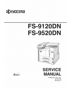 KYOCERA LaserPrinter FS-9120DN FS-9520DN Parts and Service Manual