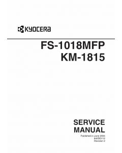 KYOCERA MFP FS-1018MFP KM-1815 Parts and Service Manual