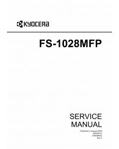 KYOCERA MFP FS-1028MFP DP-110 Service Manual