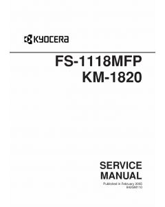 KYOCERA MFP FS-1118MFP KM-1820 Service Manual