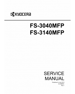KYOCERA MFP FS-3040MFP 3140MFP Parts and Service Manual