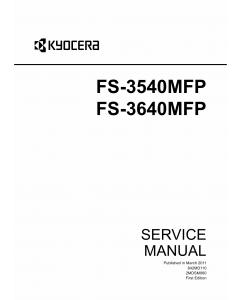 KYOCERA MFP FS-3540MFP 3640MFP Service Manual