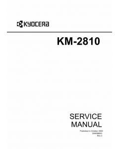 KYOCERA MFP KM-2810 KM-2820 Parts and Service Manual