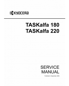 KYOCERA MFP TASKalfa-180 220 Parts and Service Manual
