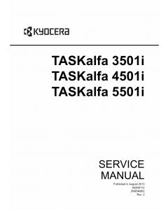 KYOCERA MFP TASKalfa-3501i 4501i 5501i Service Manual