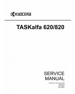 KYOCERA MFP TASKalfa-620 820 Service Manual