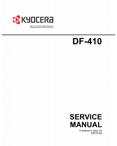 KYOCERA Options Document-Feeder DF-410 Service Manual