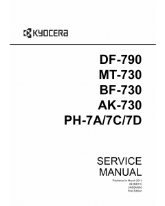 KYOCERA Options Document-Feeder DF-790 BF-730 MT-730 AK-730 PH-7A-7C-7D TASKalfa-3500i 4500i 5500i Service Manual