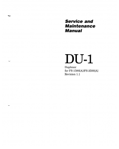 KYOCERA Options Duplexer-DU-1 for FS-1500 3500 Parts and Service Manual