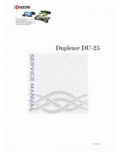 KYOCERA Options Duplexer-DU-25 Parts and Service Manual