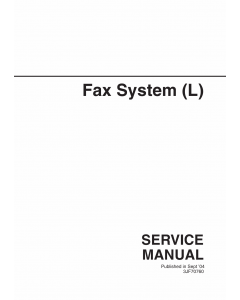 KYOCERA Options FAX-System-L Parts Manual