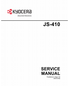 KYOCERA Options Job-Separator-JS-410 Service Manual
