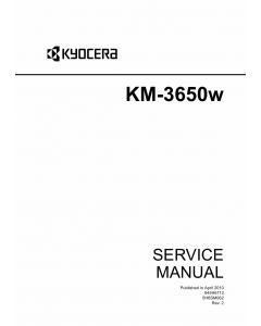 KYOCERA WideFormat KM-3650w Service Manual