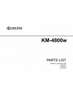 KYOCERA WideFormat KM-4800w Parts Manual