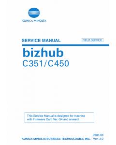 Konica-Minolta Bizhub C351 C450 FIELD-SERVICE Service Manual