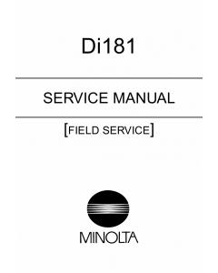 Konica-Minolta MINOLTA Di181 FIELD-SERVICE Service Manual