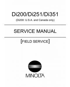Konica-Minolta MINOLTA Di200 Di251 Di351 FIELD-SERVICE Service Manual