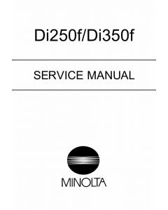 Konica-Minolta MINOLTA Di250f Di350f FIELD-SERVICE Service Manual