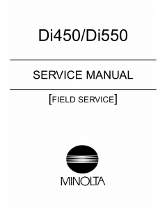 Konica-Minolta MINOLTA Di450 Di550 FIELD-SERVICE Service Manual