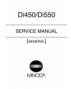 Konica-Minolta MINOLTA Di450 Di550 GENERAL Service Manual