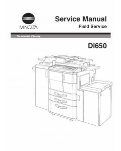 Konica-Minolta MINOLTA Di650 FIELD-SERVICE Service Manual