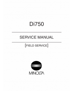 Konica-Minolta MINOLTA Di750 FIELD-SERVICE Service Manual