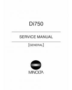 Konica-Minolta MINOLTA Di750 GENERAL Service Manual